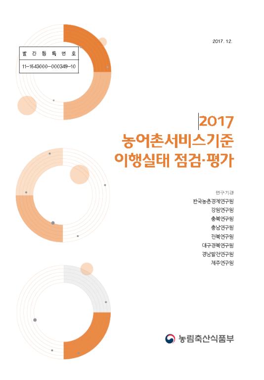 2017 농어촌서비스기준 이행실태 점검·평가