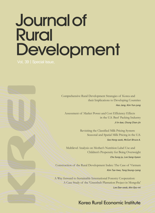 Comprehensive Rural Development Strategies of Korea and their Implications to Developing Countries