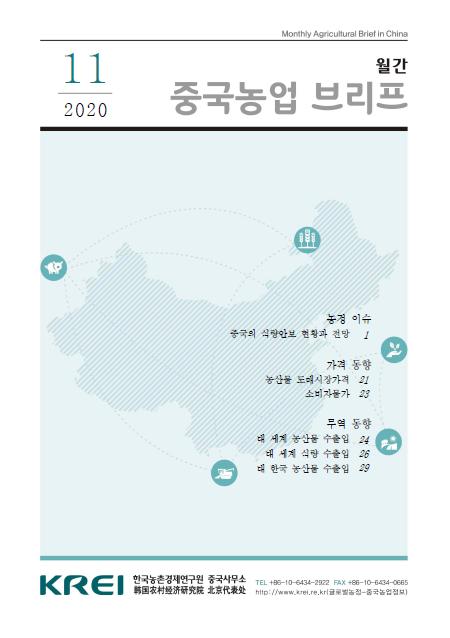중국농업브리프 (2020.11) : 중국의 식량안보 현황과 전망