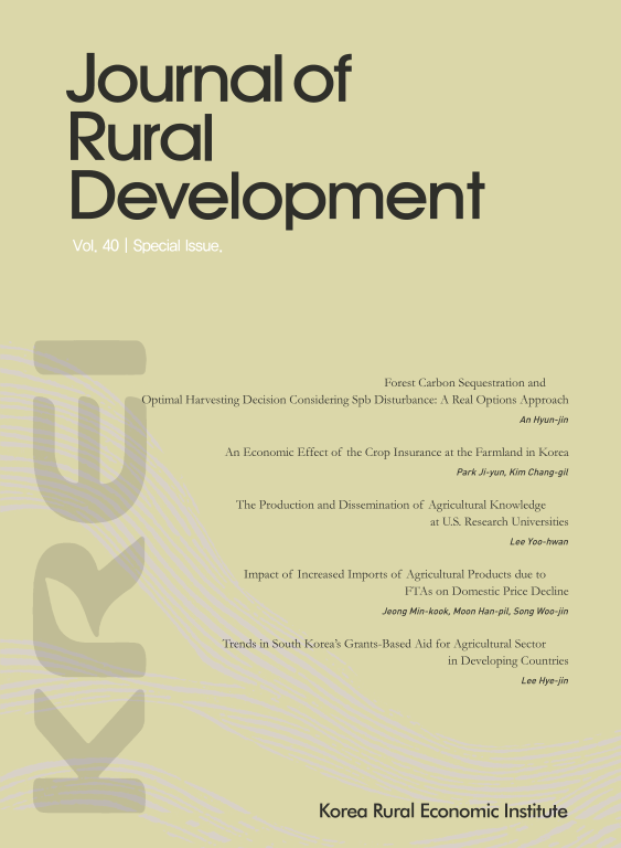 Trends in South Korea's Grants-Based Aid for Agricultural Sector in Developing Countries